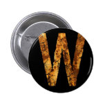 Letter Typo W Pinback Buttons