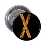 Letter Typo X Pin