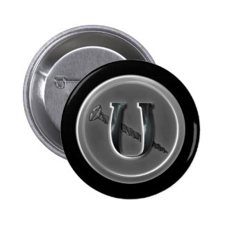 Letter U and a Screw 6 Pinback Button