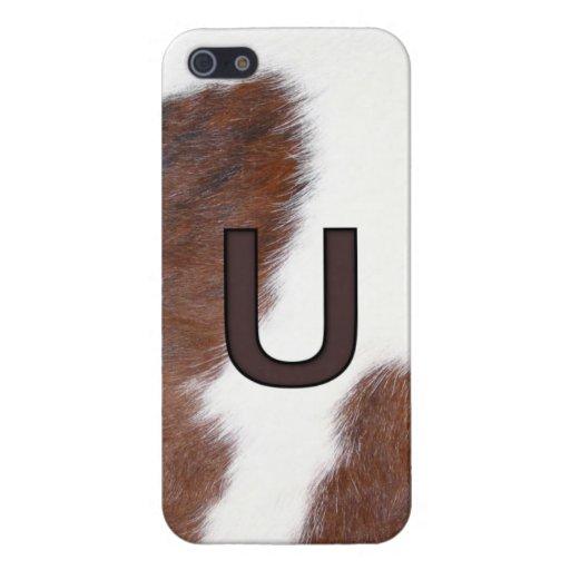 Letter U Brand Cowhide Livestock Iphone 5 Case