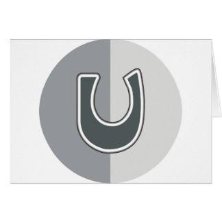 Letter U Card