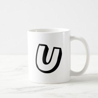 Letter U Coffee Mug