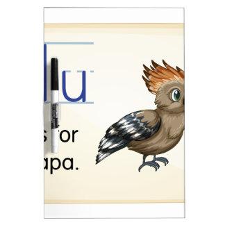 Letter U Dry-Erase Whiteboard