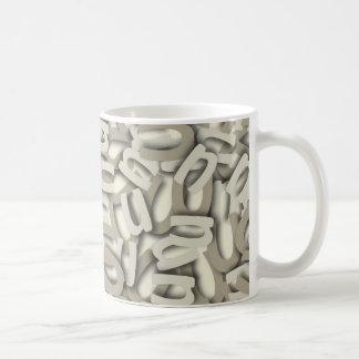 Letter U Gray Coffee Mug