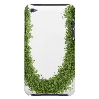 Letter 'U' in cress on white background, Barely There iPod Cases