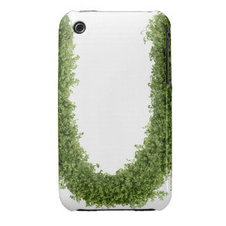 Letter 'U' in cress on white background, iPhone 3 Case-Mate Cases