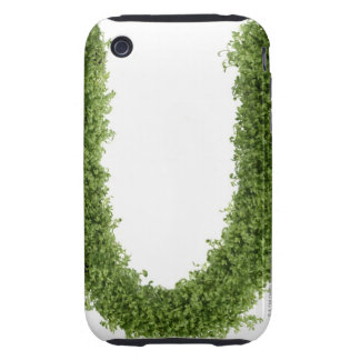 Letter 'U' in cress on white background, Tough iPhone 3 Covers