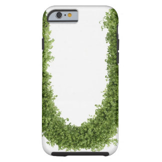Letter 'U' in cress on white background, Tough iPhone 6 Case