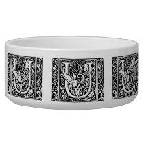 Letter U Medieval Monogram Vintage Initial Bowl