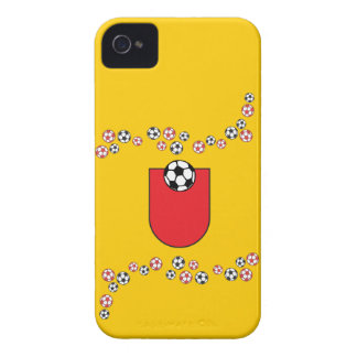 Letter U Monogram in Soccer Red iPhone 4 Case