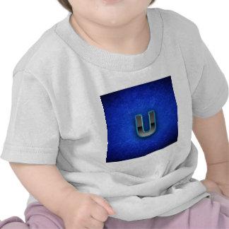Letter U - neon blue edition Shirt