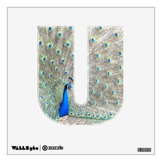 Letter U of Jesus Peacock Wall Decal