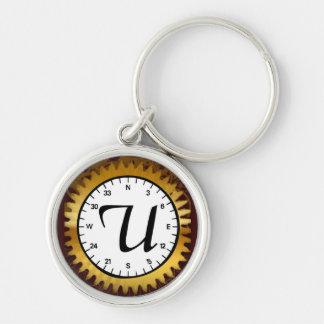 Letter U Premium Clockwork Keychain