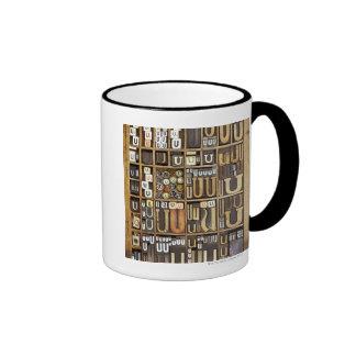 Letter U Ringer Mug
