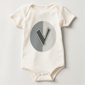 Letter V Baby Bodysuit