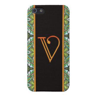 LETTER V CASE FOR iPhone SE/5/5s