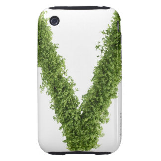 Letter 'V' in cress on white background, Tough iPhone 3 Covers