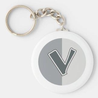 Letter V Keychain
