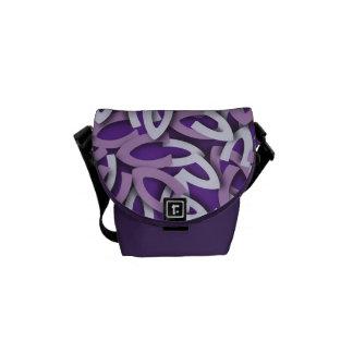 Letter V Purple Courier Bags