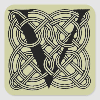 Celtic Knot Monogram Letter Stickers | Zazzle