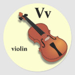 Letter V violin Stickers