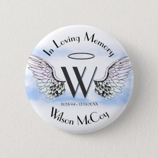 Letter W | Add Name | Memorial Pinback Button