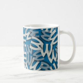 Letter W Blue Coffee Mug