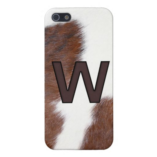 Letter W Brand Cowhide Livestock Iphone 5 Case