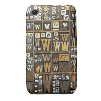 Letter W Case-Mate iPhone 3 Cases