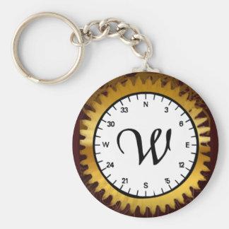 Letter W Clockwork Keychain