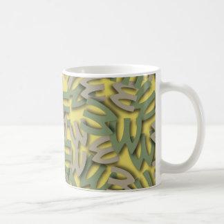 Letter W Green Coffee Mug