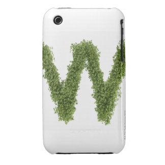 Letter 'W' in cress on white background, iPhone 3 Cover
