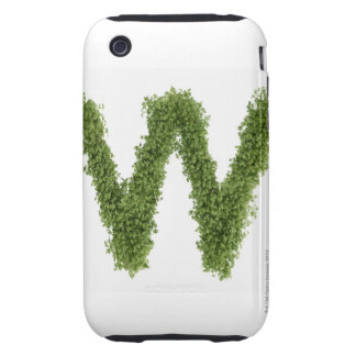 Letter 'W' in cress on white background, iPhone 3 Tough Cases