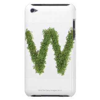 Letter 'W' in cress on white background, iPod Touch Case-Mate Case