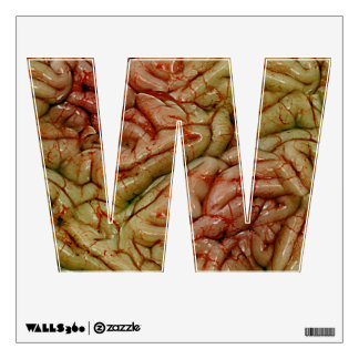 Letter W Initial - Brains Brainz BRAINZZ Wall Decal