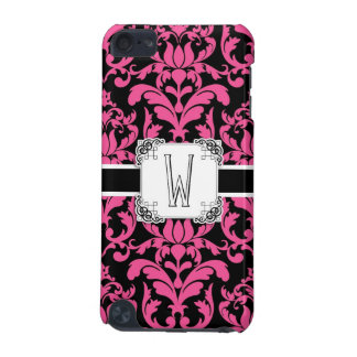 Letter W Monogram Floral Damask Typography Scroll iPod Touch 5G Cases