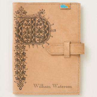 Letter W Monogram Vintage Initial Journal