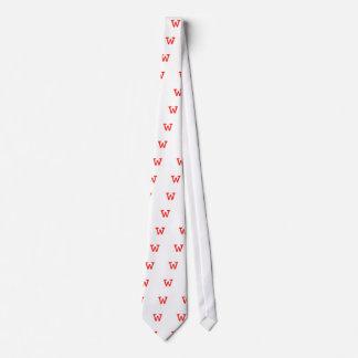 Letter w neck tie
