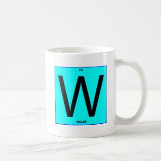 Letter W periodic table Coffee Mug