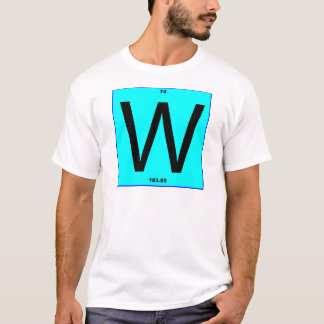 Letter W periodic table T-Shirt