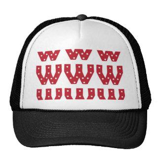 Letter W - White Stars on Dark Red Trucker Hat