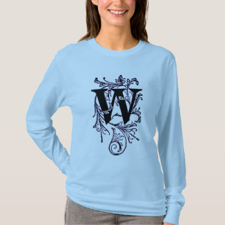 Letter 'W' Wrapped in Purple Vines - Shirt