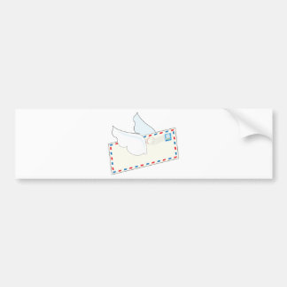 Letter with Wings Bumper Sticker