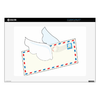Letter with Wings Decal For Laptop
