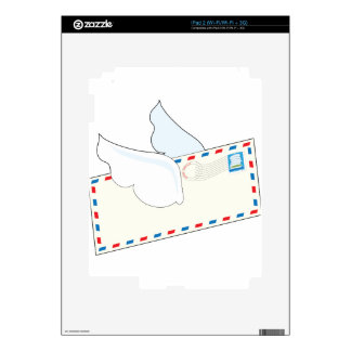 Letter with Wings iPad 2 Decal