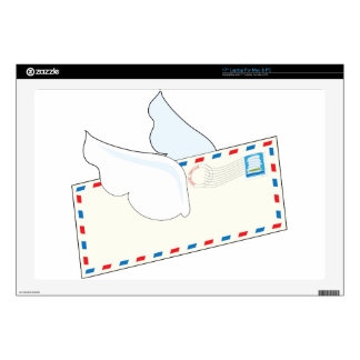 Letter with Wings Laptop Decal