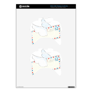 Letter with Wings Xbox 360 Controller Skin