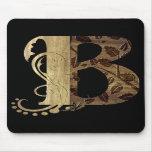 Letter wood B Mousepads