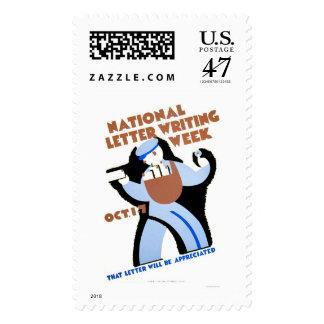 Letter Writing Week 1940 WPA Postage