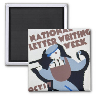 Letter Writing Week 2 Inch Square Magnet